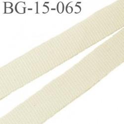 Sangle galon 15 mm couleur écru petit grain en coton très très solide  largeur 15 mm prix au mètre