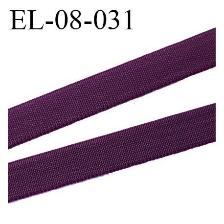 élastique 8 mm plat fin polyamide élasthanne spécial lingerie de marque fabriqué en France couleur bordeaux prix au mètre