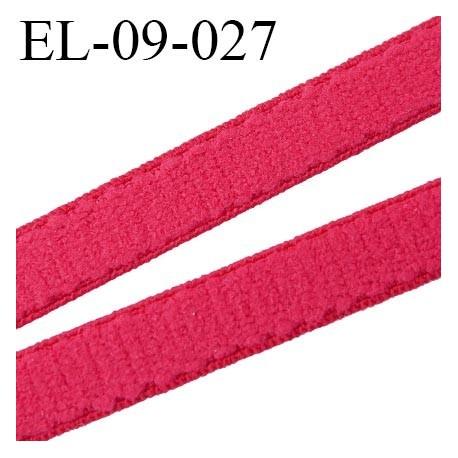 élastique lingerie 9 mm couleur rouge coquelicot grande marque fabriqué en France largeur 9 mm  prix au mètre