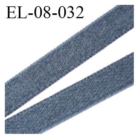 élastique 8 mm plat  fin aspect velours spécial lingerie de marque fabriqué en France couleur gris prix au mètre
