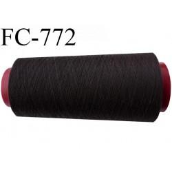 Cone de 1000 m fil polyester n° 120 couleur café longueur de 1000 mètres bobiné en France
