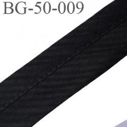 sangle biais ruban gallon haut de gamme couleur noir à rayures en biais largeur 5 cm souple  très solide