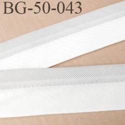 galon ruban 50 mm ganse réhausse couleur écru  et gris en chevron haut de gamme prix au mètre