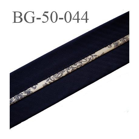 galon ruban 50 mm ganse rehausse ceinture CHRISTIAN LACROIX couleur noir et or  haut de gamme prix au mètre