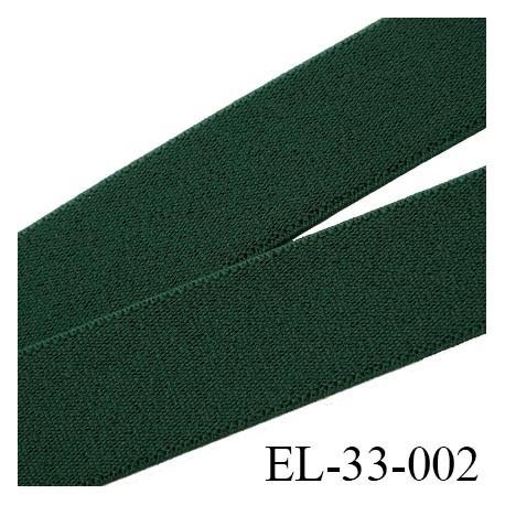 élastique 33 mm pour ceinture ou bretelle très belle qualité couleur vert bouteille  fabriqué en France prix au mètre