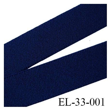 élastique 33 mm pour ceinture ou bretelle très belle qualité couleur bleu marine  fabriqué en France prix au mètre