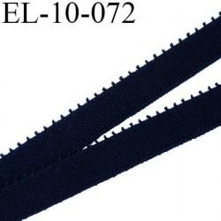 élastique lingerie picot 10 mm couleur noir fabriqué en France largeur 9+1 mm picot  prix au mètre