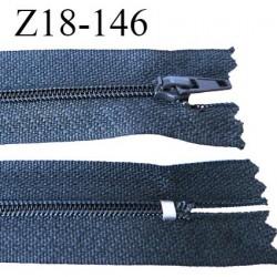 fermeture zip longueur 18 cm gris non séparable largeur 2.4 cm glissière nylon largeur  4 mm