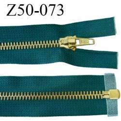 fermeture zip 50 cm couleur vert séparable de marque glissière métal largeur 6 mm largeur 3,2 cm