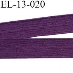 Elastique pré plié 13 mm  lingerie couleur aubergine grande marque fabriqué en France  largeur 13 mm prix au mètre