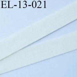 Elastique pré plié 13 mm  lingerie couleur ivoire grande marque fabriqué en France  largeur 13 mm prix au mètre