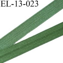 Elastique pré plié 13 mm  lingerie couleur kaki clair grande marque fabriqué en France  largeur 13 mm prix au mètre