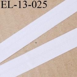 Elastique pré plié 13 mm  lingerie couleur blanc grande marque fabriqué en France  largeur 13 mm prix au mètre