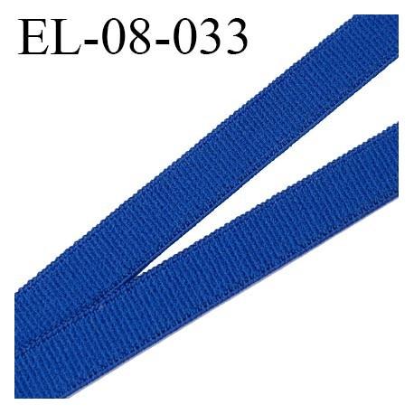 élastique 8 mm plat polyamide élasthanne spécial lingerie de marque fabriqué en France couleur bleu outre mer prix au mètre