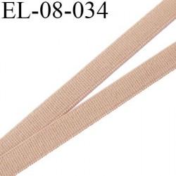 élastique 8 mm plat polyamide élasthanne spécial lingerie de marque fabriqué en France couleur peau mer prix au mètre