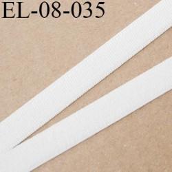 élastique 8 mm plat polyamide élasthanne spécial lingerie de marque fabriqué en France couleur naturel prix au mètre