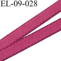 élastique lingerie 9 mm couleur framboise grande marque fabriqué en France largeur 9 mm  prix au mètre