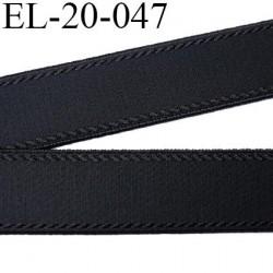 Elastique 20 mm bretelle bande soutien sg et lingerie noir légèrement brillant  Fabriqué en France largeur 20 mm prix au mètre