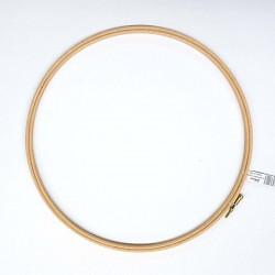 ELBESSE cercle tambour de broderie point de croix en bois 30 cm vis de réglage laiton