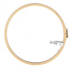 ELBESSE cercle tambour de broderie point de croix en bois 25 cm vis de réglage laiton