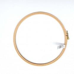 ELBESSE cercle tambour de broderie point de croix en bois 22 cm vis de réglage laiton