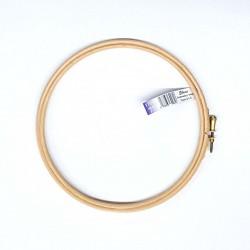 ELBESSE cercle tambour de broderie point de croix en bois 17 cm vis de réglage laiton