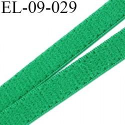 élastique lingerie 9 mm couleur vert grande marque fabriqué en France largeur 9 mm  prix au mètre