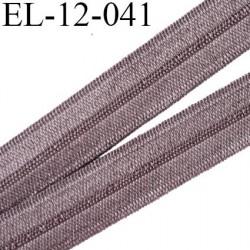 Elastique pré plié 12 mm  lingerie couleur marron glacé grande marque fabriqué en France  largeur 12 mm prix au mètre