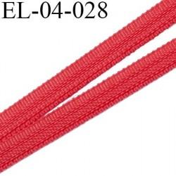 Elastique 4 mm fin spécial lingerie polyamide élasthanne couleur rouge rubin  largeur 4  mm prix au mètre