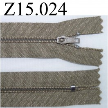 fermeture éclair longueur 15 cm couleur kaki zip nylon