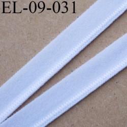 élastique lingerie 9 mm couleur blanc belle élasticité grande marque fabriqué en France largeur 9 mm  prix au mètre