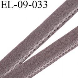 élastique lingerie 9 mm couleur terre d'ombre belle élasticité grande marque fabriqué en France largeur 9 mm  prix au mètre