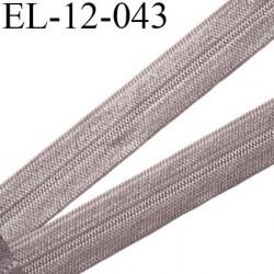 Elastique pré plié 12 mm  lingerie couleur gris minéral grande marque fabriqué en France  largeur 12 mm prix au mètre