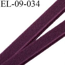 élastique lingerie 9 mm couleur prune belle élasticité grande marque fabriqué en France largeur 9 mm  prix au mètre