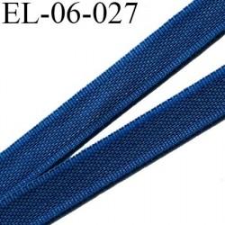 Elastique 6 mm fin spécial lingerie polyamide élasthanne couleur bleu twilight  largeur 6  mm prix au mètre
