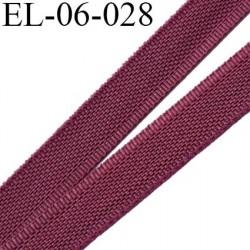 Elastique 6 mm fin spécial lingerie polyamide élasthanne couleur prune largeur 6  mm prix au mètre