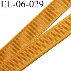 Elastique 6 mm fin spécial lingerie polyamide élasthanne couleur jaune sahara  largeur 6  mm prix au mètre