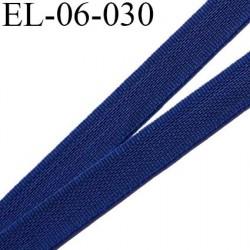 Elastique 6 mm fin spécial lingerie polyamide élasthanne couleur bleu heroine  largeur 6  mm prix au mètre