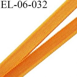 Elastique 6 mm fin spécial lingerie polyamide élasthanne couleur orange maya  largeur 6  mm prix au mètre