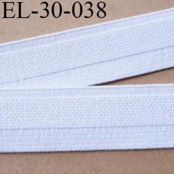 élastique 30 mm spécial lingerie  couleur blanc doux belle élasticité oeko tex grande marque Fabriqué en France prix au mètre