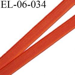Elastique 6 mm fin spécial lingerie polyamide élasthanne couleur orange cuivré fabriqué en France largeur 6  mm prix au mètre