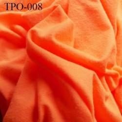 Tissu Polaire épaisseur fine couleur orange fluo largeur 145 cm poids 100 grs au m2 prix pour 10 cm de longueur