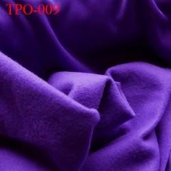 Tissu Polaire violet une face polaire et une face brillante largeur 165 cm poids 250 grs au m2 prix pour 10 cm de longueur