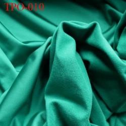 Tissu Polaire vert une face polaire et une face brillante largeur 160 cm poids 200 grs au m2 prix pour 10 cm de longueur