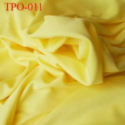 Tissu Polaire fin couleur jaune avec une face respirante largeur 170 cm poids 200 grs au m2 prix pour 10 cm de longueur