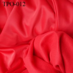Tissu Polaire rouge une face polaire et une face brillante largeur 160 cm poids 220 grs au m2 prix pour 10 cm de longueur