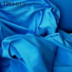 Tissu Polaire bleu une face polaire et une face brillante largeur 170 cm poids 180 grs au m2 prix pour 10 cm de longueur