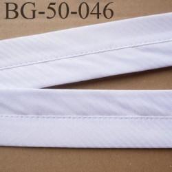 galon ruban 50 mm ganse rehausse ceinture sangle couleur blanc haut de gamme prix au mètre