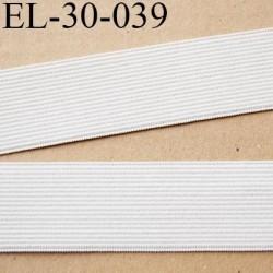 élastique 30 mm plat très belle qualité couleur naturel écru fabriqué en France largeur 30 mm prix au mètre