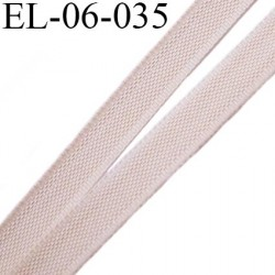 Elastique 6 mm fin spécial lingerie polyamide élasthanne couleur peau rosé fabriqué en France largeur 6  mm prix au mètre